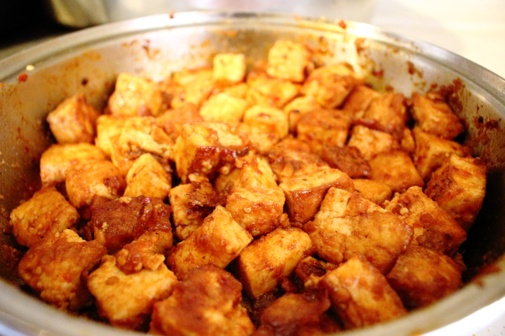 tofu in the pot