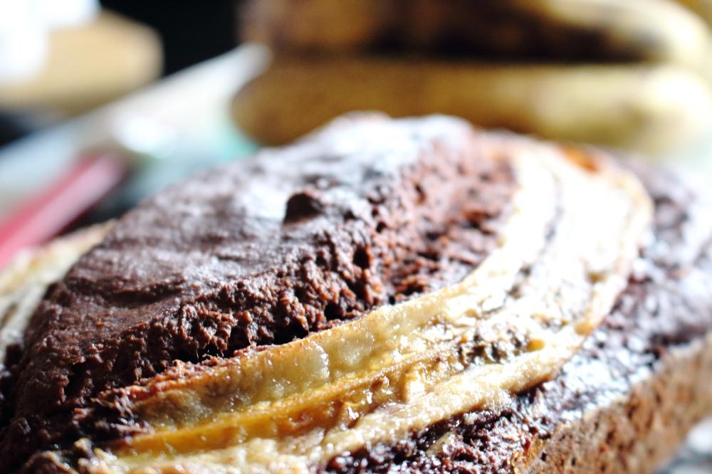 banana bread close up